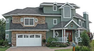 asphalt shingle roof house